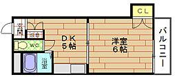 RIGEL弁天[8階]の間取り