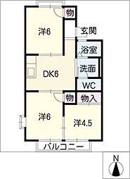 コーポ堀部[2階]の間取り