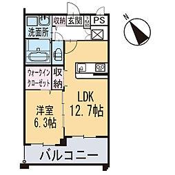 新築東大友町マンション[303号室]の間取り
