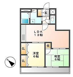 今井ダイアパレス東別院[8階]の間取り