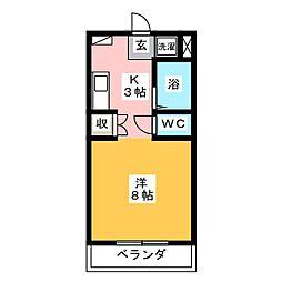 サンライト津島III号館[1階]の間取り
