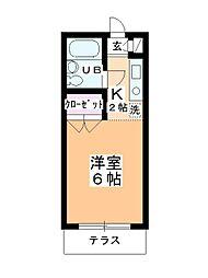 ステーションヴィラ鶴ヶ島[109号室]の間取り
