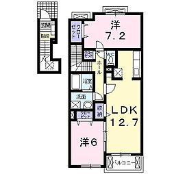 メゾン・ドゥ・ソレイユB[2階]の間取り