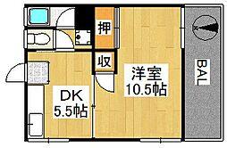 古賀アパート[205号室]の間取り