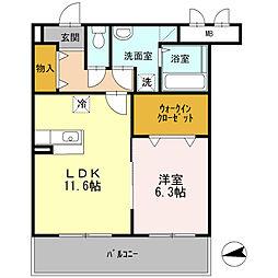 ツクバリゾートマンション エリフェスタ[2階]の間取り