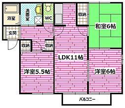 エイトトータス3番館[1階]の間取り