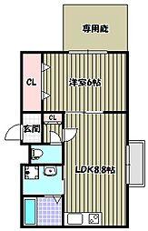 ララフィオーレ堺東[1階]の間取り