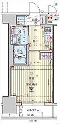 JR東海道・山陽本線 神戸駅 徒歩9分の賃貸マンション 11階1Kの間取り