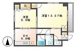 エミナンス太閤[2階]の間取り