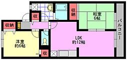 セジュールカツヤマ[202号室]の間取り