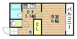 カーサマローネ[4階]の間取り