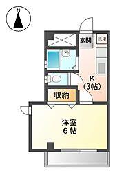 シャロ−ムK[3階]の間取り