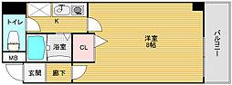 コンフィデンス北堀江[401号室]の間取り