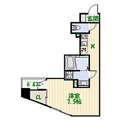 プレールドゥ—ク東京EAST[6階]の間取り