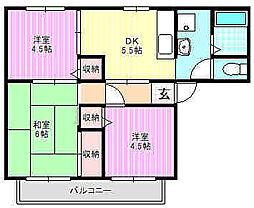 シュテートハウス[1階]の間取り