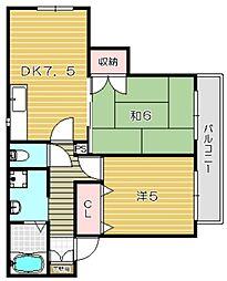 ドミール千里丘[2階]の間取り