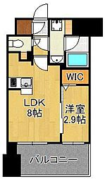 グランフォーレ小倉シティタワー 10階1LDKの間取り