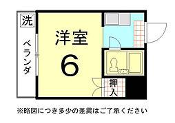 川上マンション[01号室]の間取り
