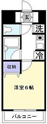 ソレイユ天王台[215号室号室]の間取り