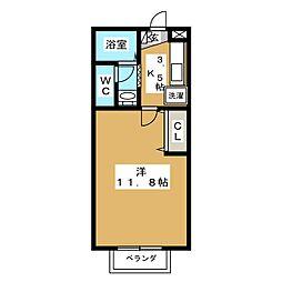 ハウスリバーユA[1階]の間取り