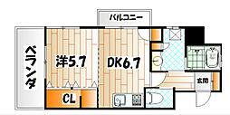 フェルト1113[11階]の間取り