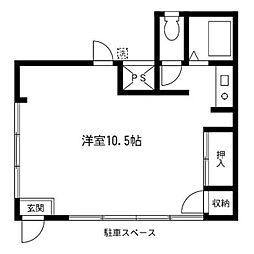 メゾン石田[1号室号室]の間取り