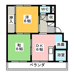 福吉アパート[3階]の間取り