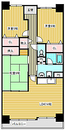 サワードゥー住之江公園[2階]の間取り