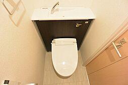 グリーンロード楠葉IIの清潔感あるトイレ