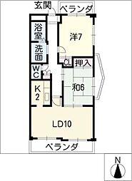 HAST御器所[1階]の間取り