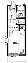 埼玉県春日部市中央3丁目の賃貸アパートの間取り
