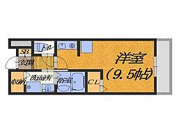 大阪府堺市西区浜寺船尾町西3丁の賃貸マンションの間取り