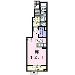 福町アパート[0102号室]の間取り