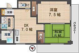 東京都杉並区井草1丁目の賃貸マンションの間取り