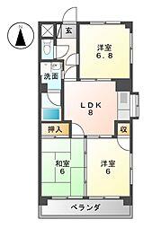 カンダコーポ[4階]の間取り