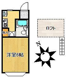 ジョイハイツ宮本町[202号室]の間取り