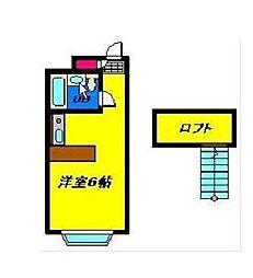 千葉県習志野市東習志野3丁目の賃貸アパートの間取り