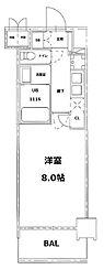 S-RESIDENCE錦糸町パークサイド[6階]の間取り