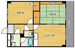 ロアジール西口[6階]の間取り