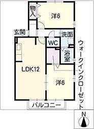 サニーヒルズ合田[2階]の間取り
