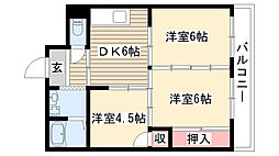 愛知県名古屋市守山区幸心1丁目の賃貸マンションの間取り
