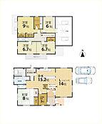 床面積約48.5坪のゆとりのある間取です。 導線が考えられた使いやすい間取りです。