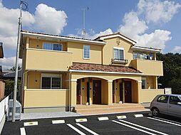 栃木県真岡市亀山の賃貸アパートの外観