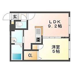 北海道札幌市東区北二十条東16の賃貸マンションの間取り
