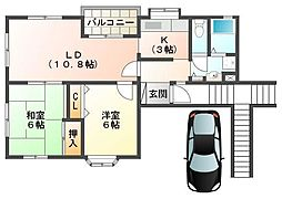 宮野町住宅[201号室]の間取り