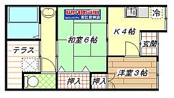 [テラスハウス] 大阪府東大阪市吉田5丁目 の賃貸【/】の間取り
