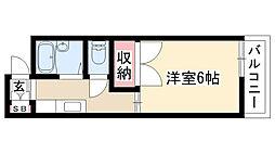 愛知県名古屋市瑞穂区白砂町4丁目の賃貸アパートの間取り