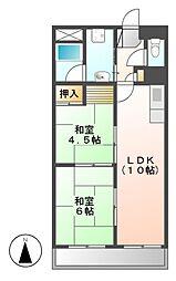 シャルムビラ宮松[7階]の間取り