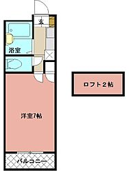 PLEAST医生ヶ丘II[305号室]の間取り