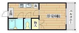 ネオ常盤[4階]の間取り